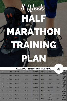 8 Week Half Marathon Training Schedule