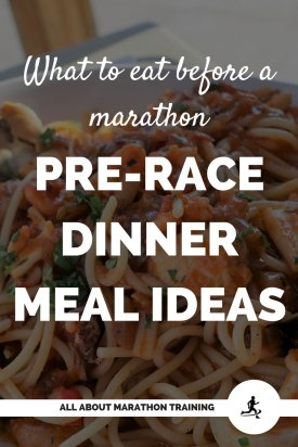 what to eat before a marathon