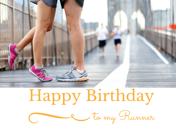 Happy Birthday To My Runner Card