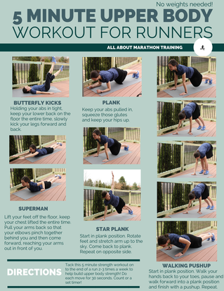running workouts 5 minute upper body addon no weights